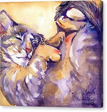 Vida Canvas Print by Maria's Watercolor