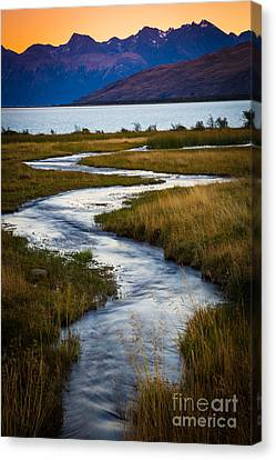 Viedma Creek Canvas Print by Inge Johnsson