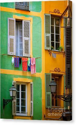 Vieille Ville Windows Canvas Print by Inge Johnsson
