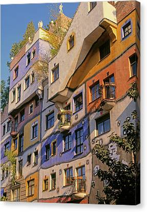 Haus Canvas Print - Vienna, Austria. Facade by Panoramic Images