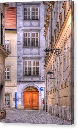 Vienna  Mozarthaus Canvas Print by Juli Scalzi