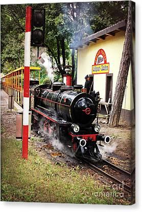 Vienna Prater Liliputbahn Vintage Locomotive Canvas Print by Menega Sabidussi