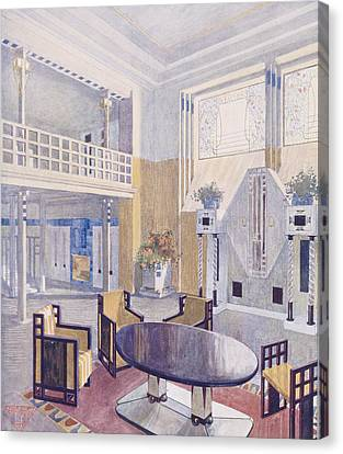 Viennese Project From A Hall Canvas Print by Austrian School