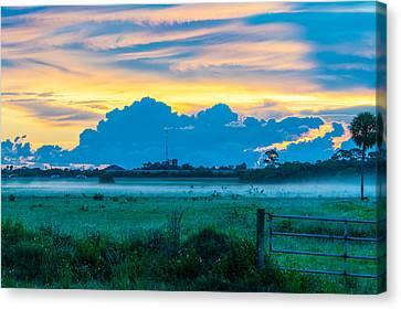 Viera Sunrise Scene 4 Canvas Print by Cliff C Morris Jr