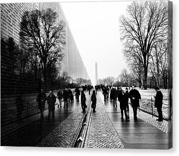 Canvas Print featuring the photograph Vietnam Memorial by Michael Donahue