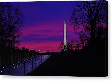 Vietnam Memorial Sunrise Canvas Print