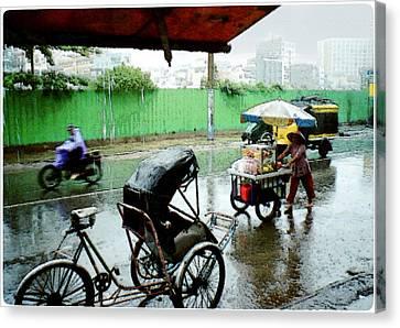 Vietnam Rainy Saigon Canvas Print