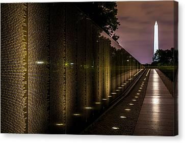 Vietnam Veterans Memorial Canvas Print by David Morefield