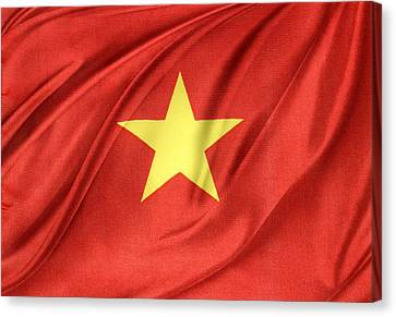 Vietnamese Flag Canvas Print by Les Cunliffe