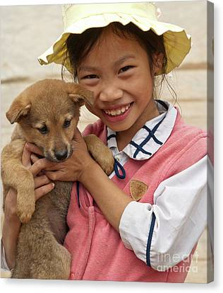 Vietnamese Girl 02 Canvas Print