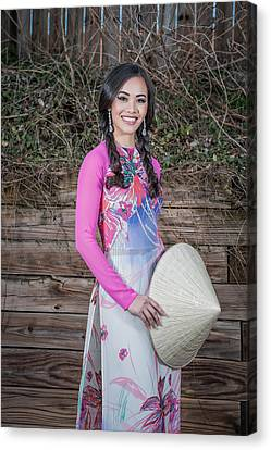 Vietnamese Girl Canvas Print by Oleg Koryagin
