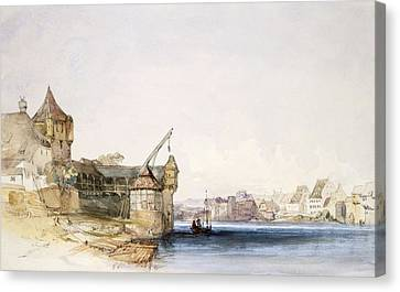 View At Basle, 1842 Canvas Print by John Harper