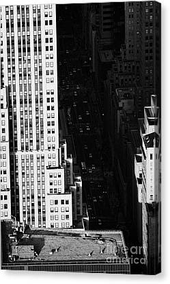 View Down Towards Fifth 5th Avenue Ave New York City Manhattan Streets Canvas Print by Joe Fox