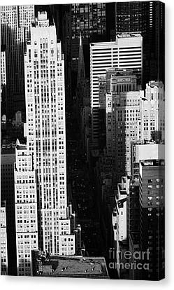 View Down Towards Fifth 5th Avenue Ave New York City Streets Canvas Print by Joe Fox