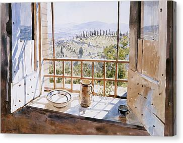 View From A Window Canvas Print by Lucy Willis