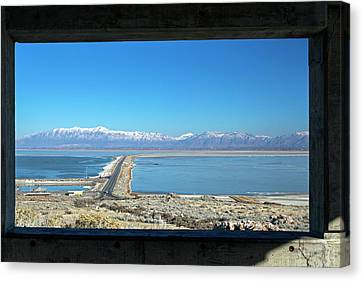 View From Antelope Island Canvas Print by Jim West