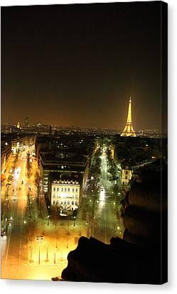 Destinations Canvas Print - View From Arc De Triomphe - Paris France - 011311 by DC Photographer