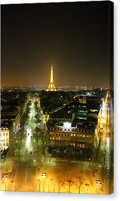 Life Canvas Print - View From Arc De Triomphe - Paris France - 011314 by DC Photographer