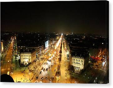 View From Arc De Triomphe - Paris France - 011318 Canvas Print by DC Photographer