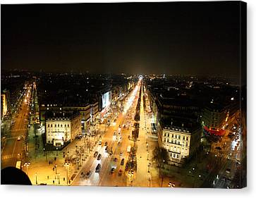 View From Arc De Triomphe - Paris France - 011319 Canvas Print by DC Photographer