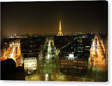 View From Arc De Triomphe - Paris France - 011323 Canvas Print by DC Photographer