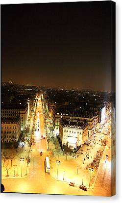 Shopping Canvas Print - View From Arc De Triomphe - Paris France - 01133 by DC Photographer
