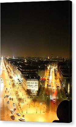 View From Arc De Triomphe - Paris France - 01137 Canvas Print by DC Photographer
