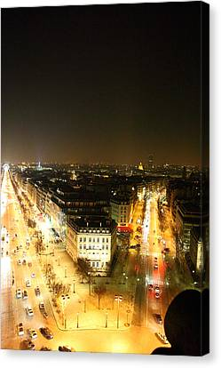 Shopping Canvas Print - View From Arc De Triomphe - Paris France - 01138 by DC Photographer