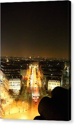 Archway Canvas Print - View From Arc De Triomphe - Paris France - 01139 by DC Photographer