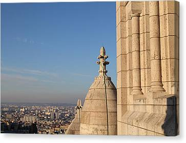 View From Basilica Of The Sacred Heart Of Paris - Sacre Coeur - Paris France - 01131 Canvas Print by DC Photographer
