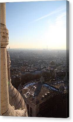 View From Basilica Of The Sacred Heart Of Paris - Sacre Coeur - Paris France - 011310 Canvas Print by DC Photographer