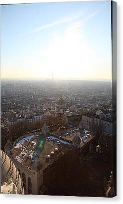 Sacred Canvas Print - View From Basilica Of The Sacred Heart Of Paris - Sacre Coeur - Paris France - 011312 by DC Photographer