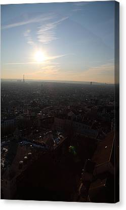 View From Basilica Of The Sacred Heart Of Paris - Sacre Coeur - Paris France - 011313 Canvas Print by DC Photographer