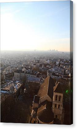 View From Basilica Of The Sacred Heart Of Paris - Sacre Coeur - Paris France - 011316 Canvas Print by DC Photographer