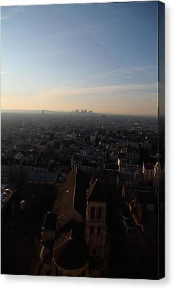 View From Basilica Of The Sacred Heart Of Paris - Sacre Coeur - Paris France - 011317 Canvas Print by DC Photographer