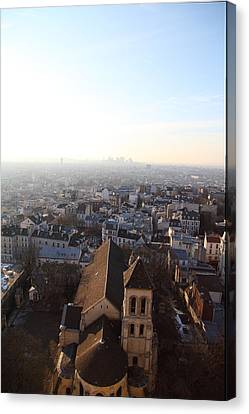 View From Basilica Of The Sacred Heart Of Paris - Sacre Coeur - Paris France - 011318 Canvas Print