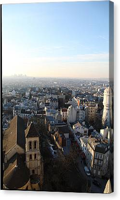 View From Basilica Of The Sacred Heart Of Paris - Sacre Coeur - Paris France - 011320 Canvas Print by DC Photographer