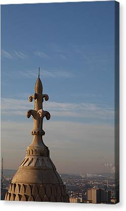 View From Basilica Of The Sacred Heart Of Paris - Sacre Coeur - Paris France - 011323 Canvas Print by DC Photographer
