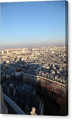 View From Basilica Of The Sacred Heart Of Paris - Sacre Coeur - Paris France - 011326 Canvas Print by DC Photographer