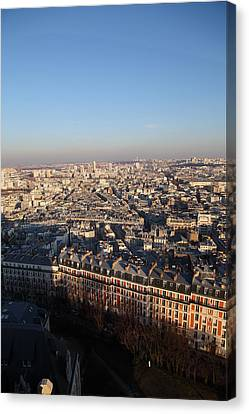 View From Basilica Of The Sacred Heart Of Paris - Sacre Coeur - Paris France - 011328 Canvas Print by DC Photographer