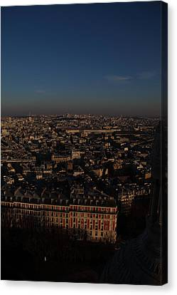 View From Basilica Of The Sacred Heart Of Paris - Sacre Coeur - Paris France - 011329 Canvas Print by DC Photographer
