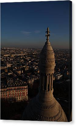 View From Basilica Of The Sacred Heart Of Paris - Sacre Coeur - Paris France - 011331 Canvas Print