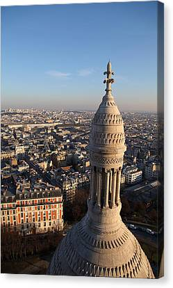 View From Basilica Of The Sacred Heart Of Paris - Sacre Coeur - Paris France - 011332 Canvas Print by DC Photographer