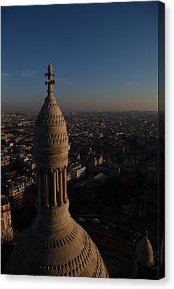 View From Basilica Of The Sacred Heart Of Paris - Sacre Coeur - Paris France - 011333 Canvas Print by DC Photographer