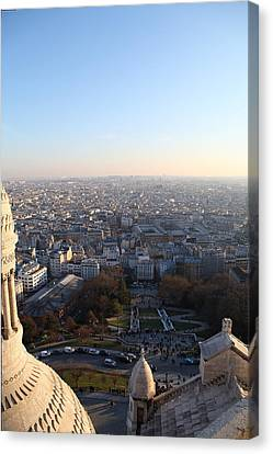 View From Basilica Of The Sacred Heart Of Paris - Sacre Coeur - Paris France - 011336 Canvas Print by DC Photographer