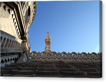 View From Basilica Of The Sacred Heart Of Paris - Sacre Coeur - Paris France - 01134 Canvas Print by DC Photographer