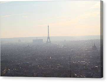 View From Basilica Of The Sacred Heart Of Paris - Sacre Coeur - Paris France - 01137 Canvas Print by DC Photographer