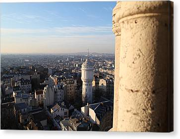 Christian Canvas Print - View From Basilica Of The Sacred Heart Of Paris - Sacre Coeur - Paris France - 01138 by DC Photographer