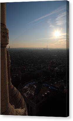 View From Basilica Of The Sacred Heart Of Paris - Sacre Coeur - Paris France - 01139 Canvas Print by DC Photographer