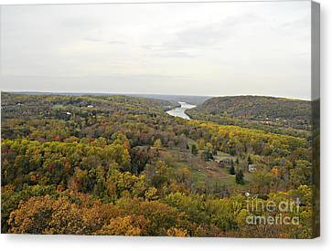 View From Bowman's Tower North Canvas Print by Addie Hocynec